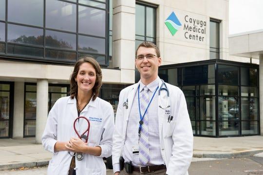 Jillian Senner, DO, associate director, and Michael Berlin, MD, director of the Cayuga Internal Medicine Residency program