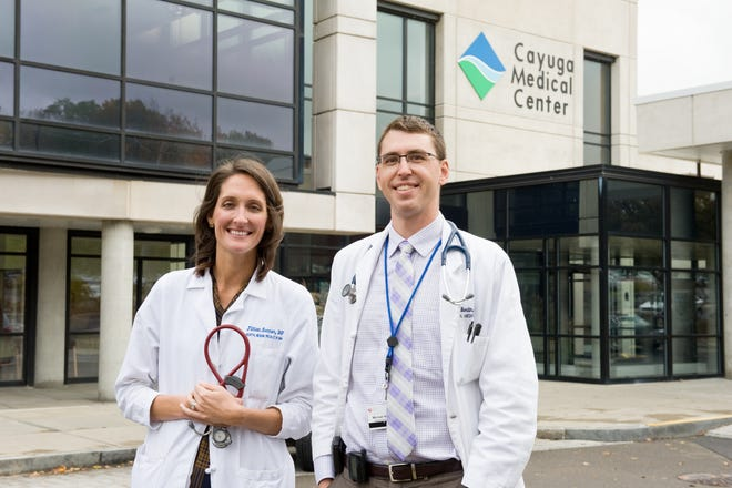 Jillian Senner, DO, associate director, and Michael Berlin, MD, director of the Cayuga Internal Medicine Residency program