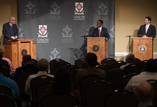 West Tennessee Today hosted a forum with mayoral candidates Scott Conger and Jerry Woods on Tuesday, June 11, 2019, at Union University.