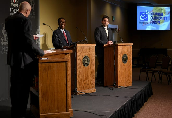 West Tennessee Today hosted a forum with mayoral candidates Scott Conger and Jerry Woods on June 11, 2019, at Union University.