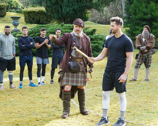 "Knoxville's Jed Wyatt takes part in ""The Bachelorette's"" Highland Games."