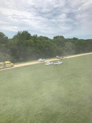 A plane crashed on the levee of the Atchafalaya River on June 12.