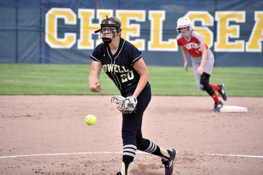 Howell's Molly Carney is 27-2 with a 0.65 ERA this season.