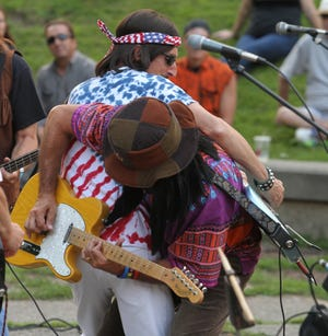 Members of The Magic Bus, a  Woodstock tribute band, will perform at this summer's first installment of Howell's nine-part Concerts at the Courthouse outdoor music series.
