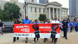 More than 100 people showed up at a rally to end cash bail, an event organized by Presbyterian Church U.S.A. and the Louisville Bail Project.