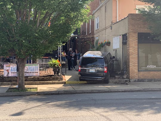 Police responded Wednesday morning to Chill Bar on Bardstown Road in the Highlands after a van accidentally drove into the gay bar's front patio. No ill-intentions are suspected, police said.