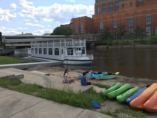 The Grand Princess Riverboat recently moved from Grand Ledge to downtown Lansing. People can take boat rides downtown throughout the summer.