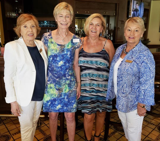 From left, LaVonne Johnson, Carole Roberts, Gwyn Steiner and Susie Berenzweig, who hosted the event.