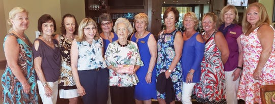 From left, Pam Spering, Penny Weidner, Christine Koppel, Debra Trafton, Aren Alter, Marie Senechal, Peggy Potter, Julia Maslanka, Elaine Orr, Sharon Walklett, Leesa Carls and Mary Soderoulund.