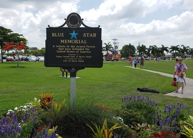 The Blue Star Memorial at Veterans Community Park, Marco Island.