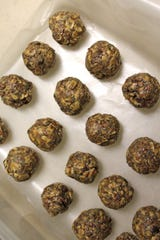 Hemp Peanut Butter Energy Balls are made with CBD-infused peanut butter.