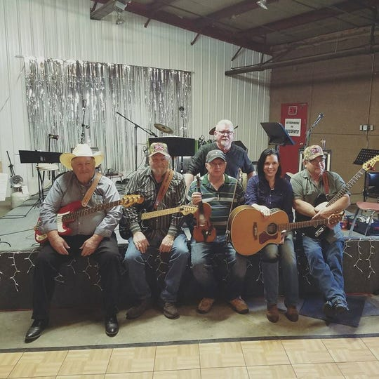 The Backwood Rebel Band will perform Saturday night in downtown Yellville.