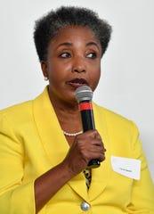 Retired Vanderbilt professor Carol Swain speaks during a mayoral forum Wednesday, June 12, 2019, in Nashville, Tenn.