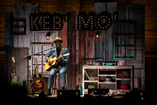 Keb' Mo' performs at the Franklin Theatre in Franklin, Tenn., Friday, June 7, 2019.