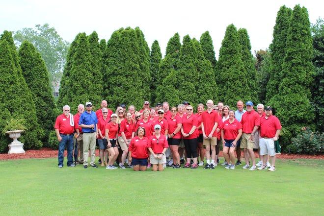 Team members volunteering at Tri Star Energy's annual golf tournament, benefiting Monroe Carell Jr. Children's Hospital at Vanderbilt.
