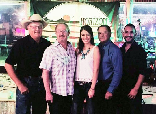 Deming's own Horizon Band will Rock the Block during the first-ever Deming MainStreet Block Party from 6 to 9 p.m. on Saturday, June 15, at historic Silver Avenue. Band members, pictured from left, Craig Irwin, Larry Dennison, Kelly Fetrow, Charlie and Steven Sera, plan to bring down the house during a live performance. Silver Avenue will be blocked off between Pine and Spruce streets and the public is invited to celebrate downtown Deming. Restaurants will be open and the event is free.
