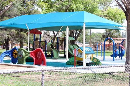 "The all-inclusive playground sits aside the existing playground at Nacio ""Herb"" Brown park at the corner of Spruce and Eighth streets."