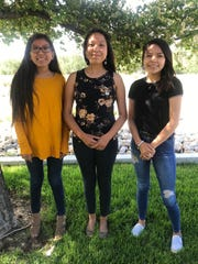 Natalee Johnhat, left, from Heights Middle School, Priya Simpson from San Juan College High School and Kaitlyn Wilcox from Piedra Vista High School will compete for the title during the Farmington American Indian Ambassador 2020 Pageant this weekend at the Farmington Indian Center.