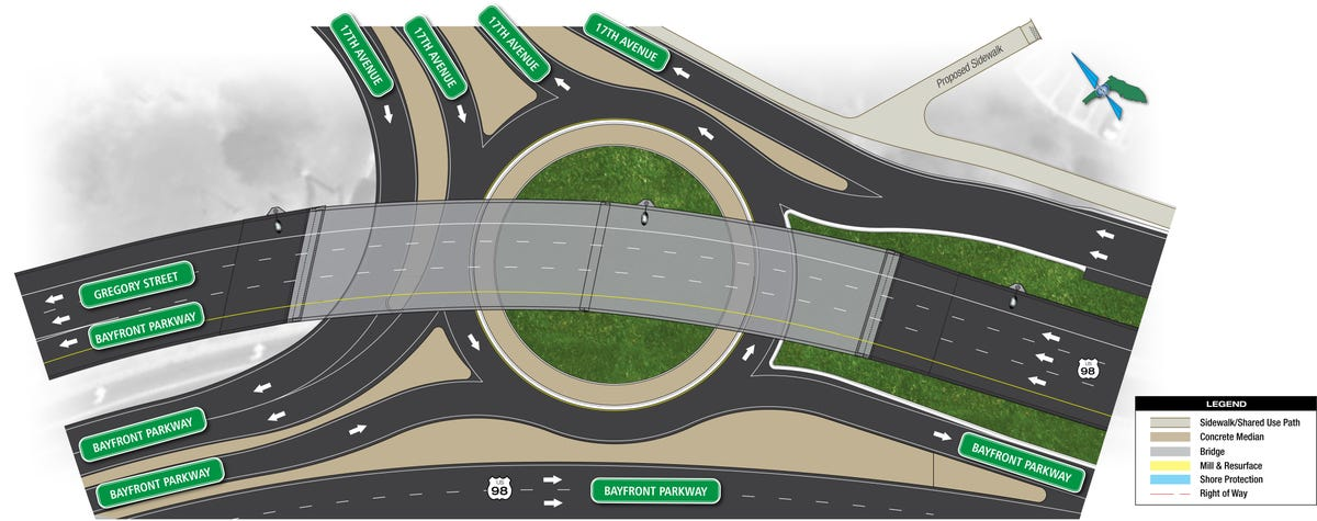 Pedestrians call for crosswalk in 17th Ave  roundabout plans