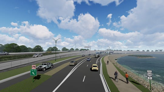 An illustration from the Florida Department of Transportation shows Bayfront Parkway looking east.