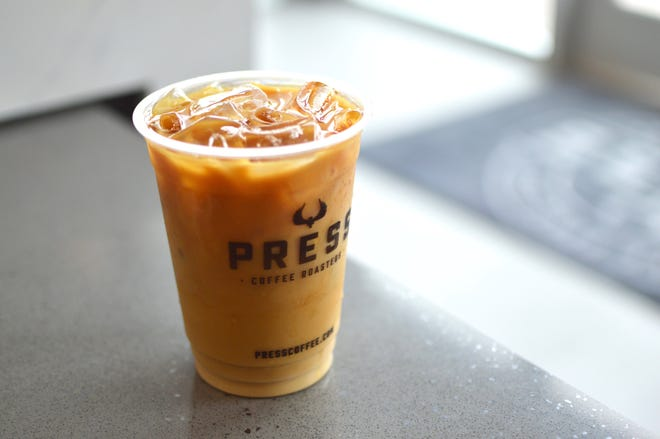 Iced coffee from Press Coffee