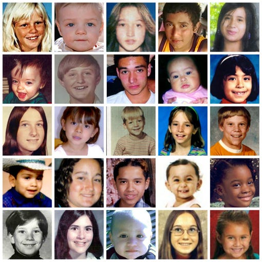 There are 73 reported missing Arizona children, dating back to 1959, according to the National Institute of Justice's Missing and Unidentified Persons System (NamUs), a national centralized repository and resource center for missing persons and unidentified decedent records. It is important to note that NamUS does not provide a completely accurate number because it is a voluntary public database used by both law enforcement and the public to share information. These are all the Arizona children in the NamUs registry.