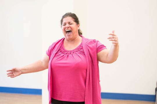 Christy Manso belts it out during a Broadway Weekends Camp.