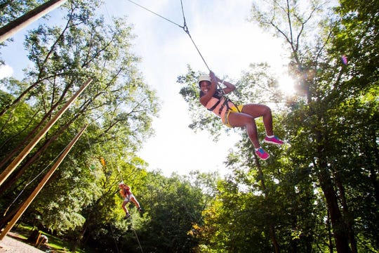Zip lining is one of the many outdoor activities available at Club Getaway in Kent, Connecticut.