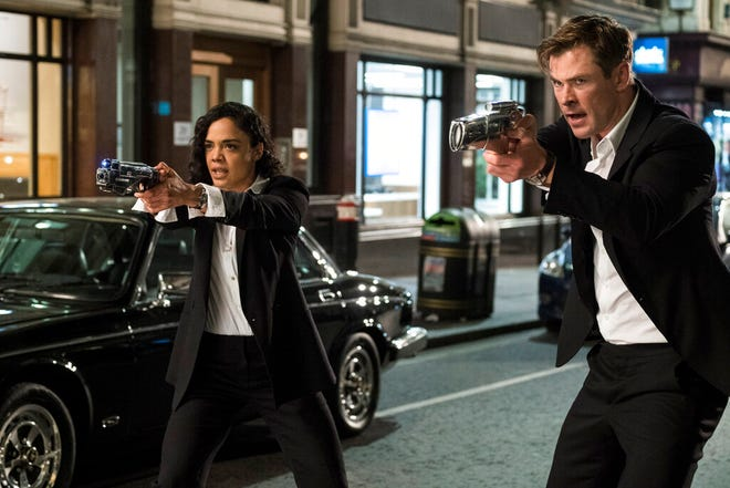 """Tessa Thompson and Chris Hemsworth star in """"Men in Black: International."""" The movie is playing at Regal West Manchester, Frank Theatres Queensgate Stadium 13 and R/C Hanover Movies."""