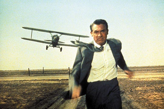 "Cary Grant stars in ""North by Northwest,"" on screen Saturday at the Capitol Theatre."
