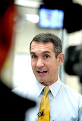 State Auditor General Eugene DePasquale talks with the media during his visit at York Hospital Wednesday, June 12, 2019. Bill Kalina photo