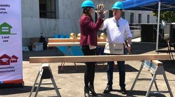 Habitat for Humanity joined with several Oregon legislators to encourage several affordable housing bills.