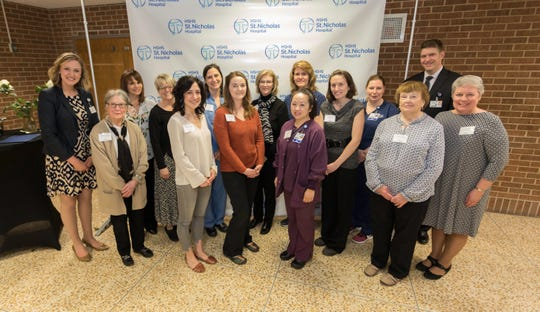 Eleven HSHS St. Nicholas Hospital employees have been awarded scholarships to help continue their educations.