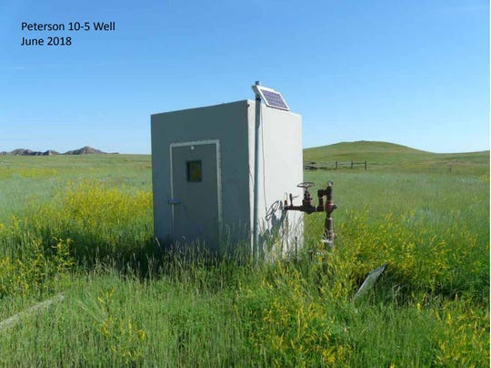 One of the 40 abandoned natural gas wells in northwestern South Dakota.