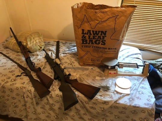 Guns seized from a Sopchoppy residence