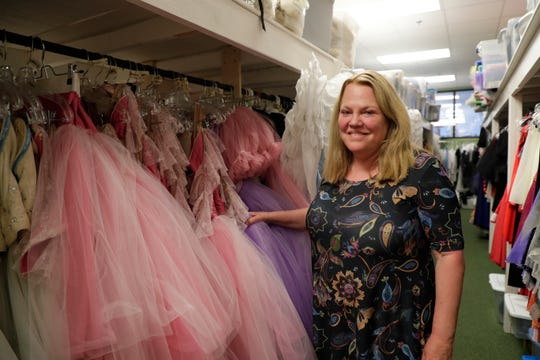 Tallahassee Ballet Chief Executive Officer Janet Pichard in the group's costume room Wednesday, June 12, 2019.