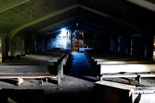 The sanctuary of Calvary United Methodist Church was destroyed during a fire in the late night hours of Thursday, May 23 and early morning of Friday, May 24. The State Fire Marshal's Office is investigating the blaze.