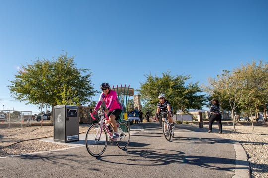Bikers enjoy the new recreational trails throughout the El Paso region.