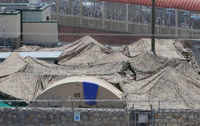 A migrant shelter near the Paso del Norte bridge.