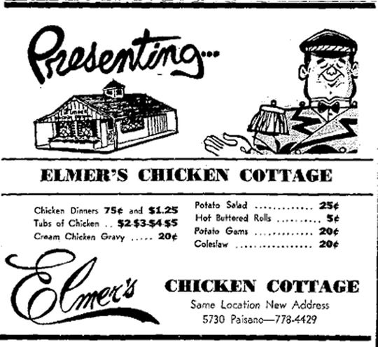 Aug. 5, 1967 - Elmer's, same location, new address.