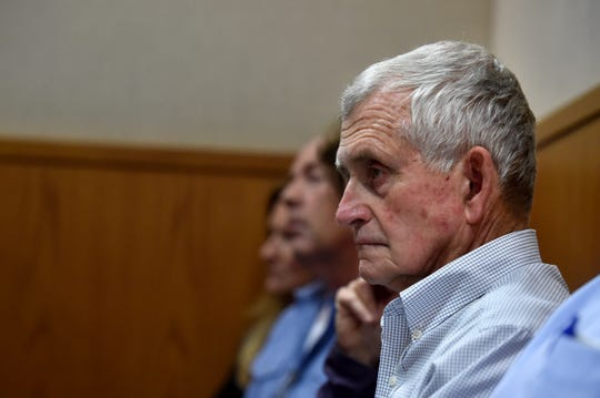 Craig Underwood, co-owner of Underwood Ranches, listens to opening statements on Wednesday in the civil trial between Huy Fong Foods and Camarillo grower Underwood Ranches.
