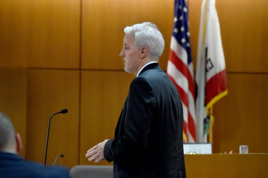 Attorney Jim McDermott gives an opening statement Wednesday on behalf of Underwood Ranches on Wednesday in the civil trial between Sriracha maker Huy Fong Foods and the Camarillo grower Underwood.