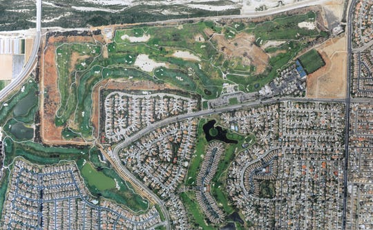 A 2016 aerial photo show's the Oxnard-owned River Ridge Golf Club. The city of Oxnard will consider a proposal to bring in American Golf Corporation as the course's new operator.