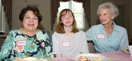 Rachel Armington (center), Student of the Month for May for the Milville Woman's Club, is joined by club members Nuha Hababo (left) and Nancy Hammond at the club's recent luncheon meeting.