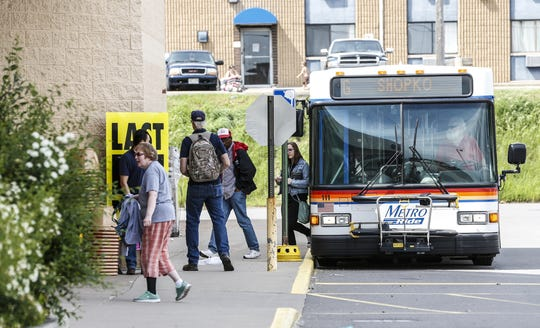 A Metro Ride bus drops off passengers Tuesday, June 11, 2019, at Shopko store in Wausau, Wis. T'xer Zhon Kha/USA TODAY NETWORK-Wisconsin