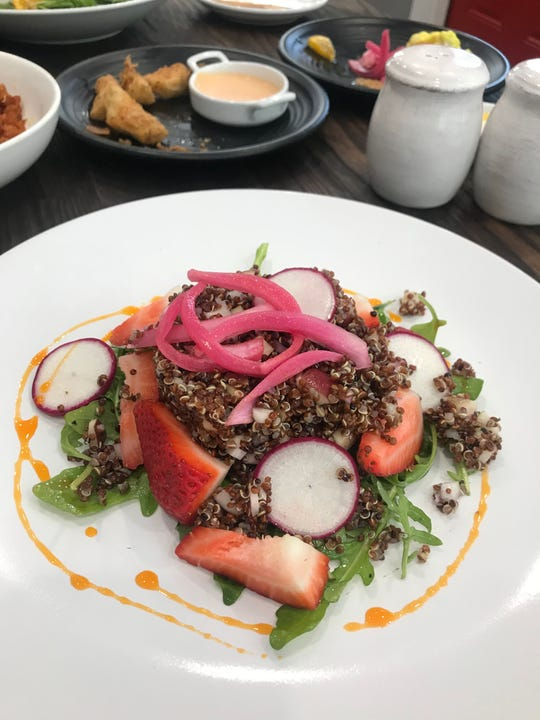 Quinoa salad with strawberries at Crossroads Gastro in West Nyack.