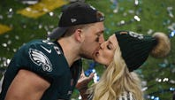 Philadelphia's Zach Ertz is excited about his wife, Julie, playing for the U.S. in the Women's World Cup. He plans to fly to Paris for next game.