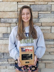 Notre Dame junior Reagan Macha was named TAPPS Class A Student Athlete of the Year.