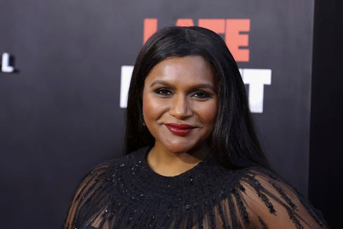 Mindy Kaling says she's not revealing the identity of the father until she has a conversation with her daughter.