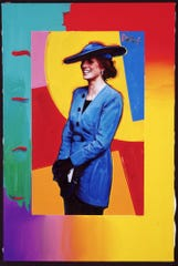 Among Peter Max's work is a portrait of Princess Diana.